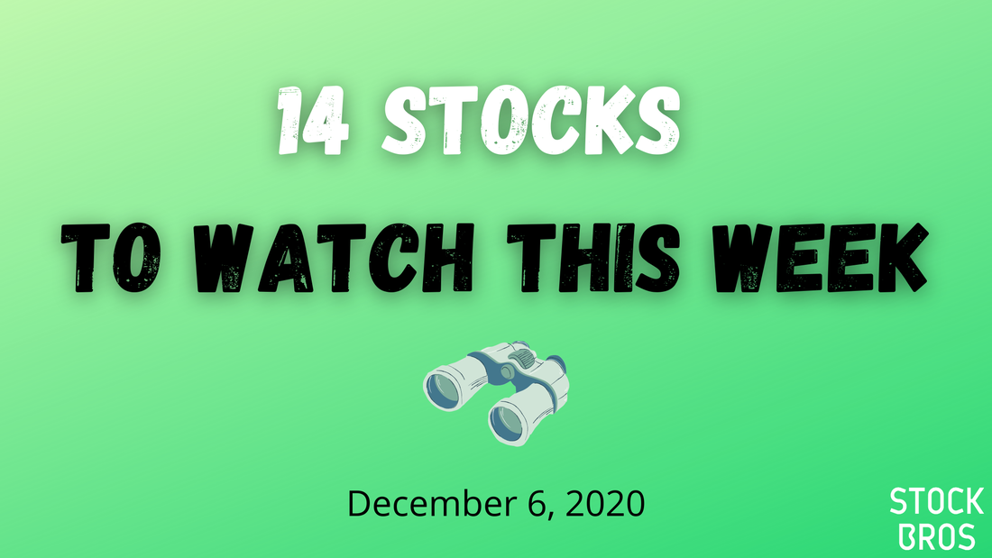 14 Stocks to Watch This Week - December 6, 2020, Stock Watch List