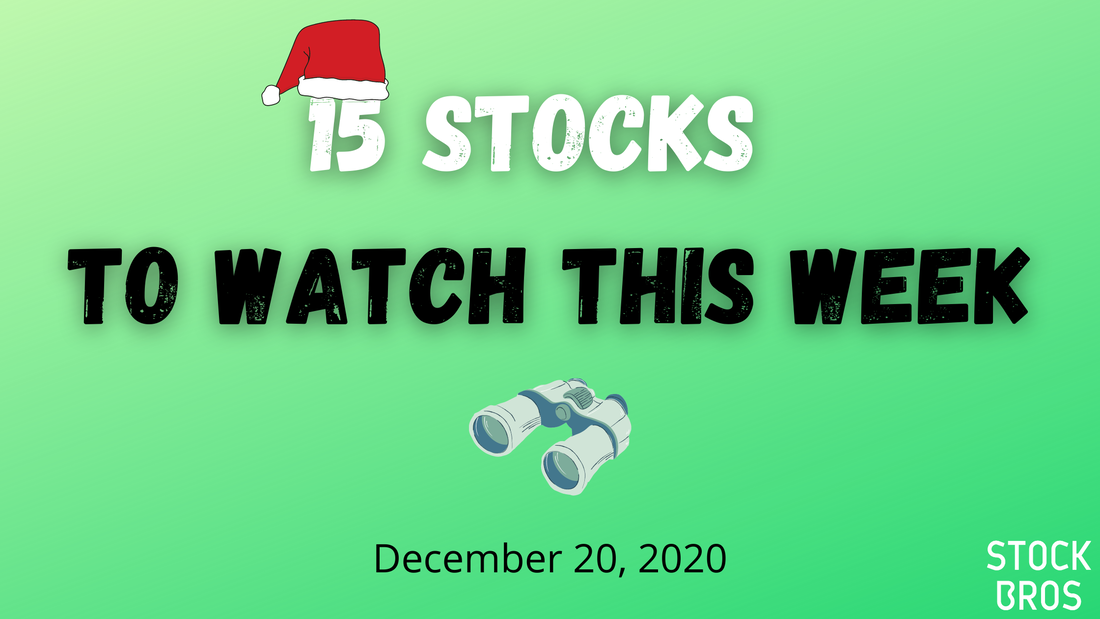 15 Stocks to Watch This Week - December 20, 2020 Watch List
