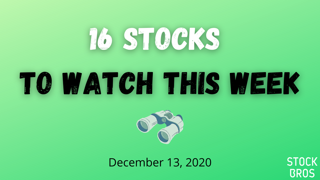 16 Stocks to Watch This Week - December 13, 2020 Stock Watch List