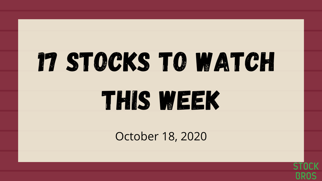 17 Stocks to Watch This Week - October 18, 2020 Stock Watchlist