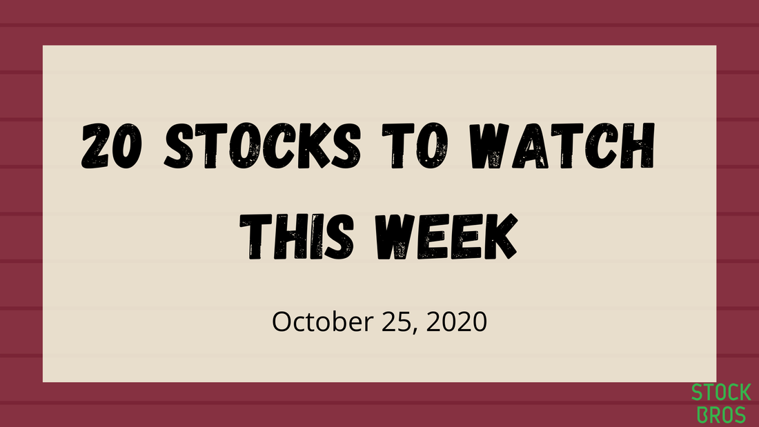 20 Stocks to Watch For This Week - October 25, 2020 Stock Watch List